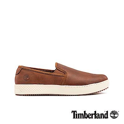 Timberland 男款中棕色全粒面革休閒鞋|A25NH