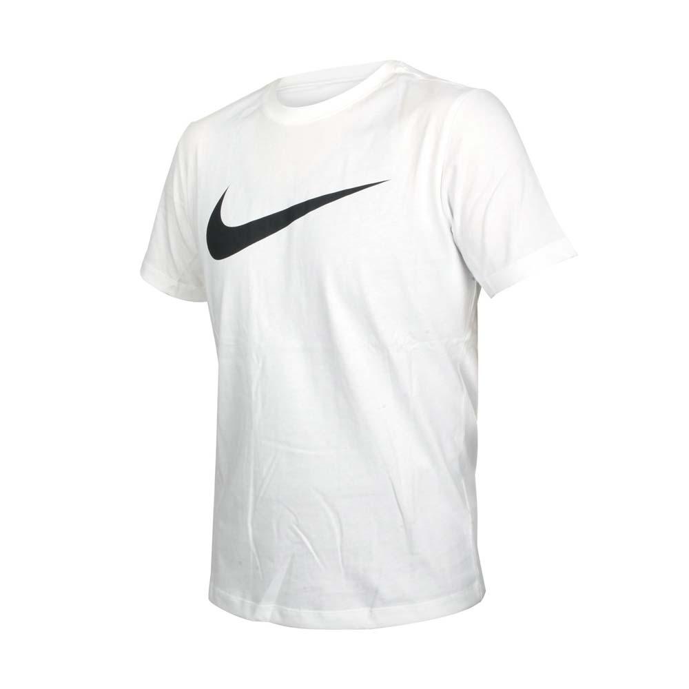 NIKE 男短袖T恤-純棉 休閒 慢跑 路跑 運動 上衣 DC5095-100 白黑