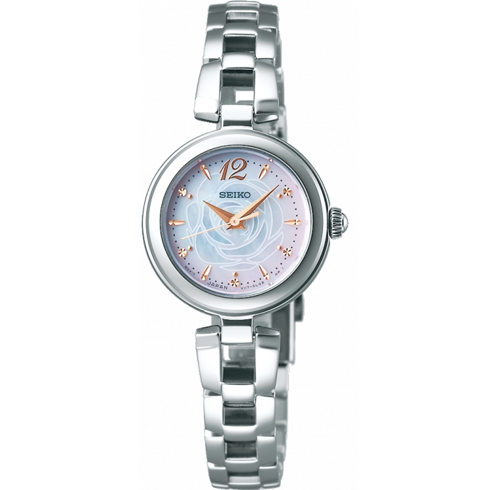 SEIKO 玫瑰花語太陽能錶-V117-0CT0S (SWFA189J)