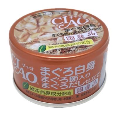 日本 CIAO 旨定罐 A-87 鮪魚&鮪魚片&鮪魚高湯 85g