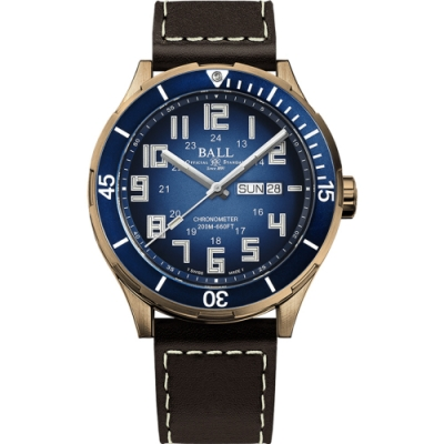 BALL 波爾錶 Roadmaster StarLight 青銅錶 DM3070B-LC-BE-藍/42mm
