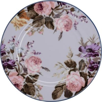 《CreativeTops》花卉淺餐盤(淡紫19cm)