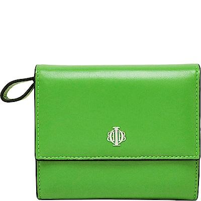 OBBI LAI 蘋果綠色小羊皮中夾皮夾錢包