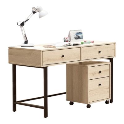 文創集 法尼亞 現代4尺多功能書桌/電腦桌組合(書桌+活動櫃)-120x60x79cm免組
