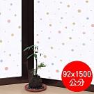 ★促銷★〔日本MEIWA〕抗UV靜電窗貼 (和風彩球)92x1500公分