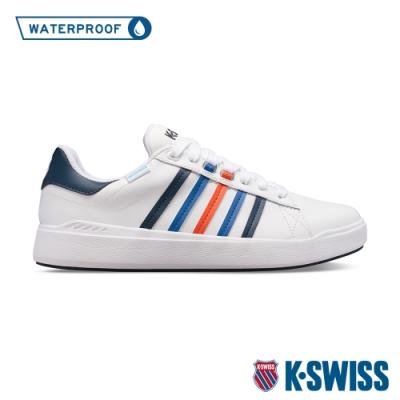 K-SWISS Pershing Court Light WP防水時尚運動鞋-男-白/藍/橘紅
