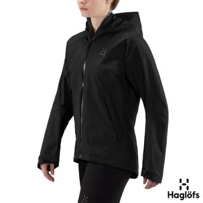 Haglofs 女 Esker PF 保暖 防水外套 黑色