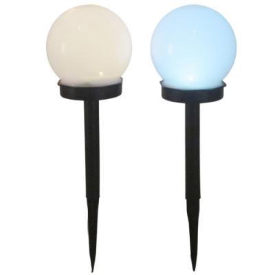 月陽超值2入球形太陽能自動光控LED庭園燈草坪燈插地燈(RB32102)