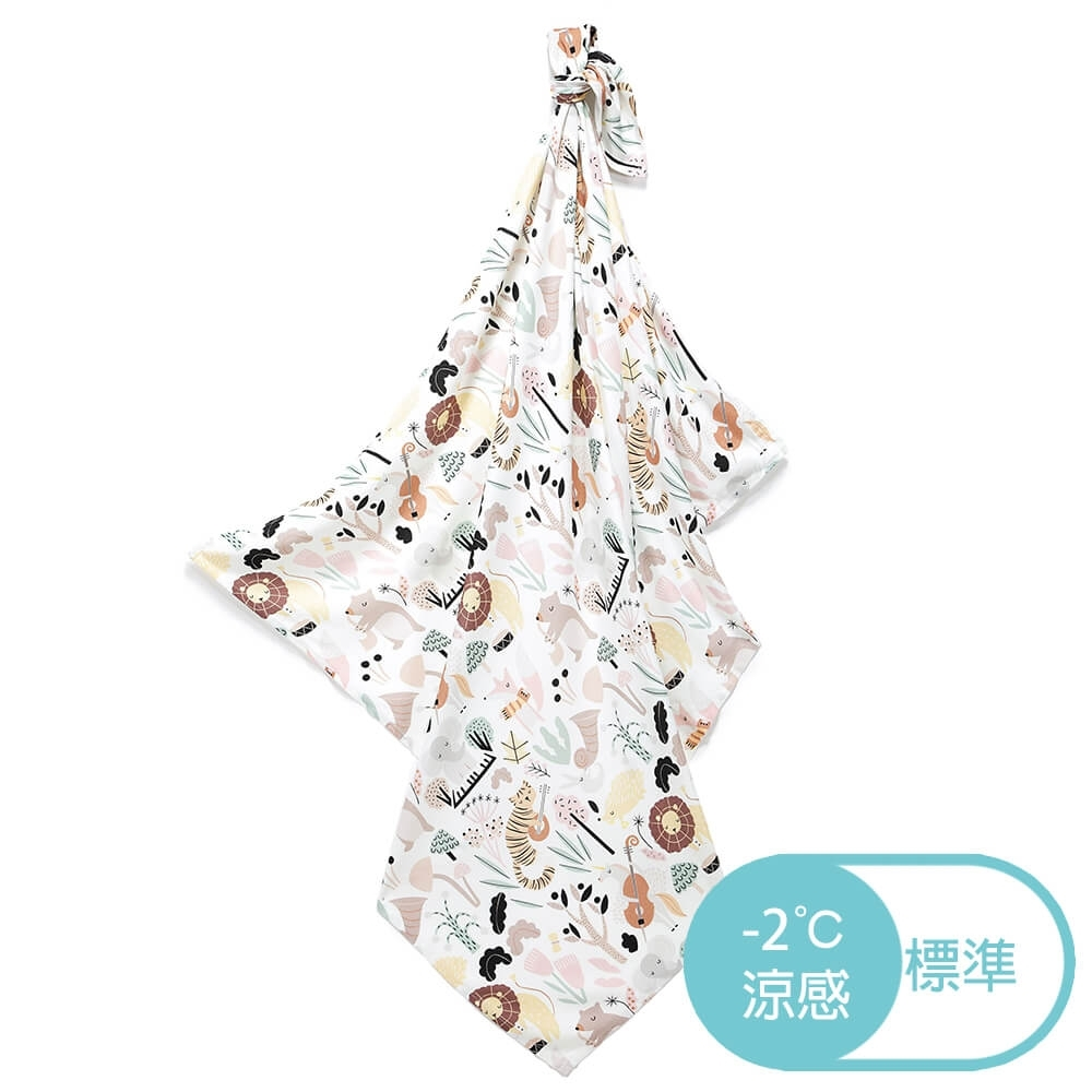 【La Millou】嬰兒包巾_竹纖涼感巾_動物交響樂-嬰兒包巾/哺乳巾/推車蓋巾
