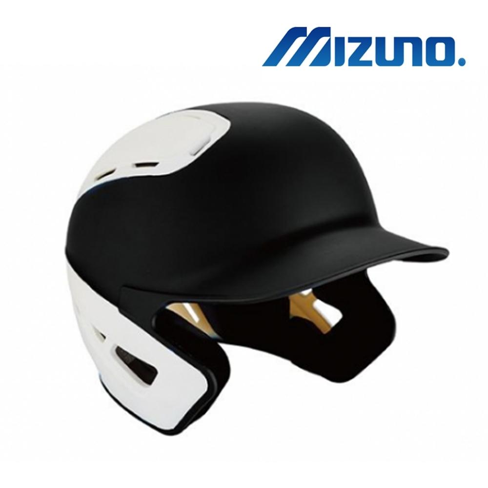 MIZUNO 硬式棒球用打擊頭盔 黑x白 380385.9000