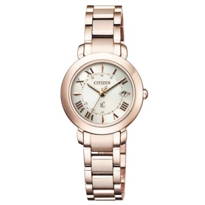 CITIZEN XC優雅迷人電波光動能鈦金屬腕錶ES9444-50A