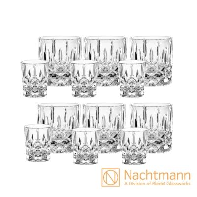 【Nachtmann】 貴族派對12件組(6入威士忌杯+6入烈酒杯)-Noblesse