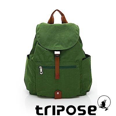 tripose MEMENTO系列微皺尼龍經典輕量後背包(大) 草地綠