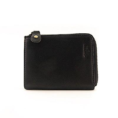 CALTAN-拉鍊零錢袋 多功能卡片收納零錢包-1985ht-bk