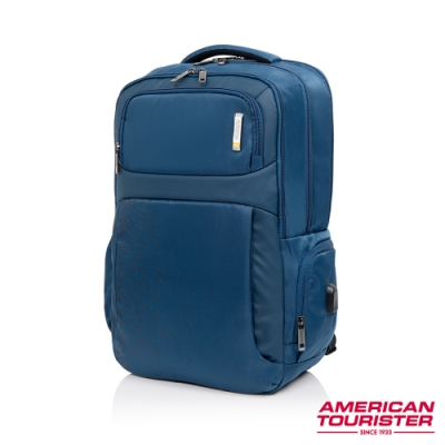 AT美國旅行者 Segno可拆卸收納袋筆電後背包17吋(海軍藍)