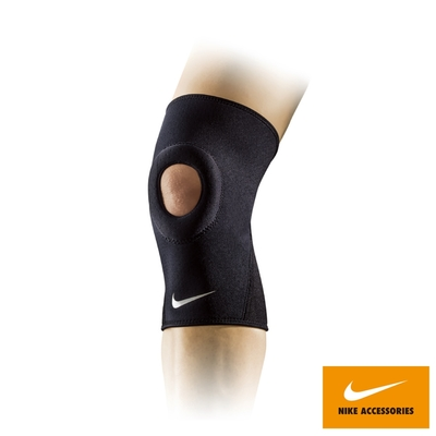 NIKE 護膝套 PRO OPEN-PATELLA 運動 黑 NMS55010