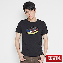 EDWIN 限定配色ED印花短袖T恤-男-黑色