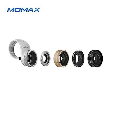 Momax X-Lens 5合1鏡頭組合(長焦 廣角 微距 魚眼 偏光鏡)