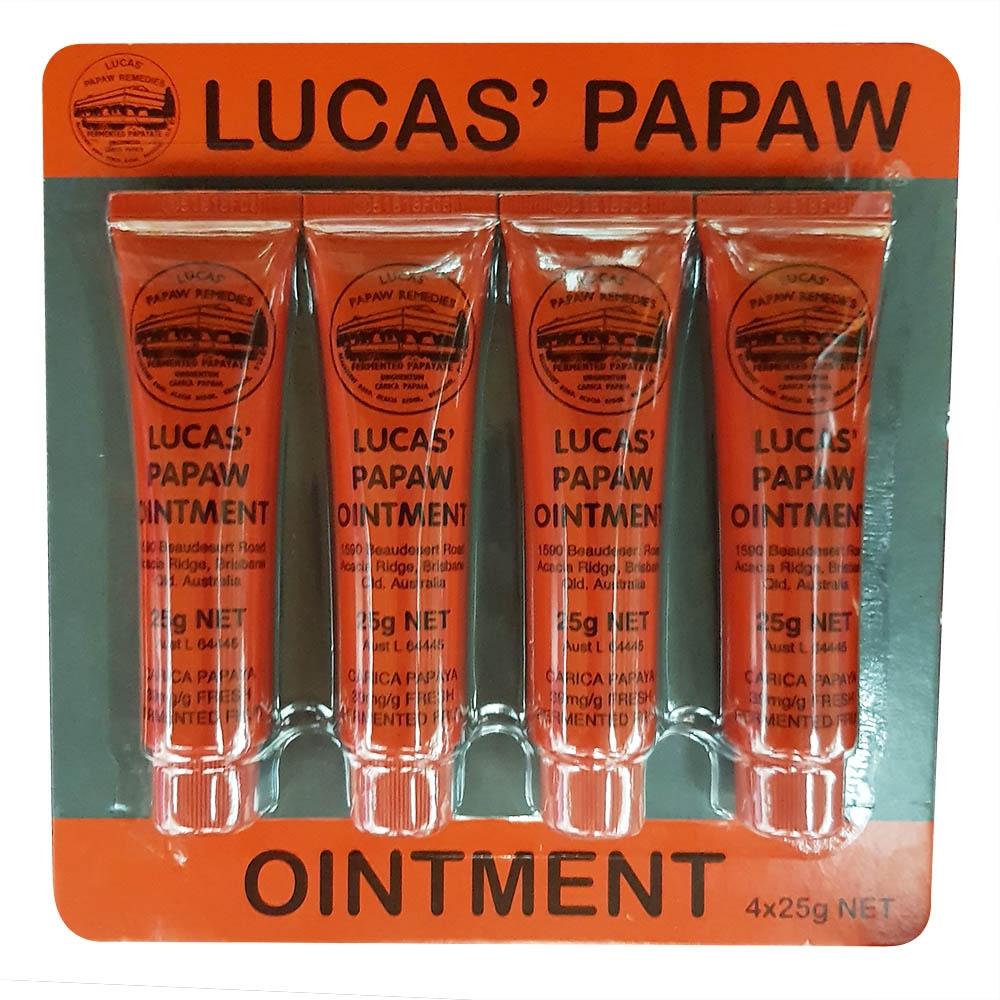 LUCAS PAPAW OINTMENT 澳洲木瓜霜 25g 4入組