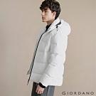 GIORDANO 男裝輕盈保暖連帽款羽絨衣 - 01 標誌白