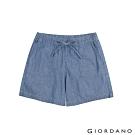 GIORDANO 女裝純棉薄牛仔休閒短褲-72 中藍