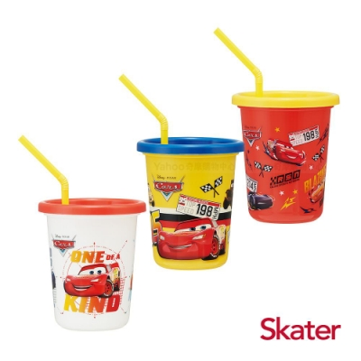 Skater日本製3入水杯(320ml)閃電麥昆