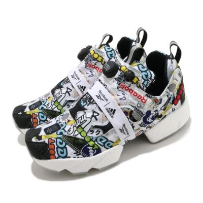 Reebok 休閒鞋Instapump Fury Boost 男鞋 襪套 經典款 充氣科技 舒適 避震 白 彩 G57659