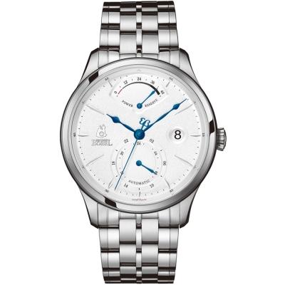 ERNEST BOREL 瑞士依波路錶 復古系列 動力儲存不鏽鋼-白色42mm