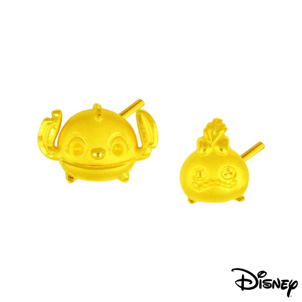 Disney迪士尼系列金飾 黃金耳環-史迪奇款