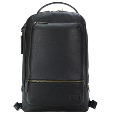 TUMI HARRISON 紳士皮革後背包(適用12吋筆電)-黑