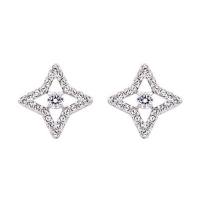 SWAROVSKI施華洛世奇 Sparkling Star 水晶穿孔耳環