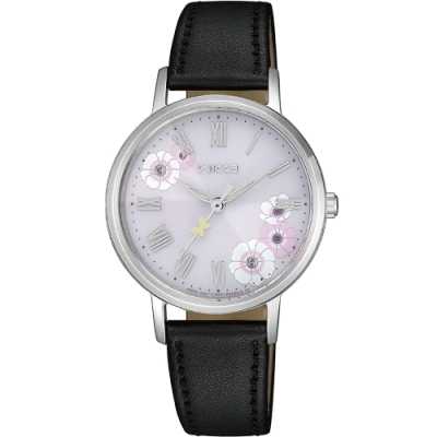 CITIZEN 星辰 wicca 少女系列 花中影蝶廣告款太陽能腕錶 KP5-115-12