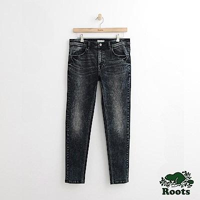 Roots 男裝-合身牛仔褲-藍色