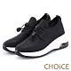 CHOiCE 壓釦免綁鞋帶氣墊 女 休閒鞋 黑色 product thumbnail 1