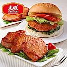 【大成】勁辣雞腿排+醬燒雞烤排明星25片組(勁辣雞腿排*10片+醬燒雞烤排*15片)