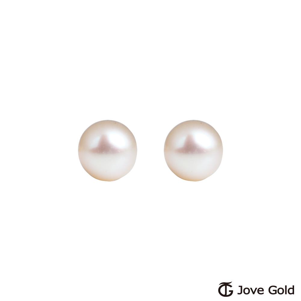 Jove gold 閨蜜黃金/天然珍珠耳環-小