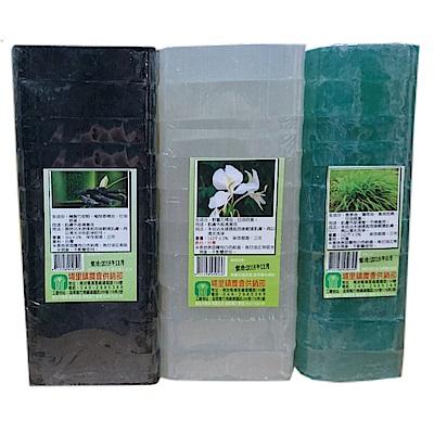 埔里鎮 無患子皂+野薑花皂+檀香皂+竹炭皂(1公斤x8條)