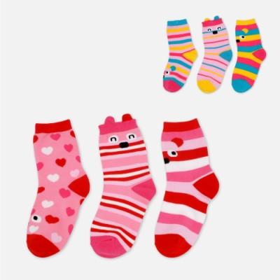 WHY AND 1/2 三件組條紋短襪 多色可選