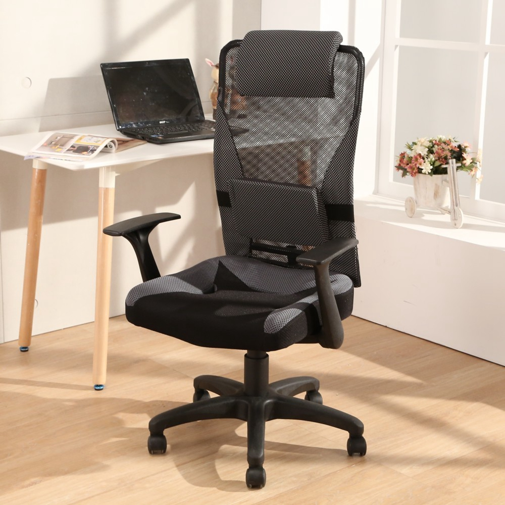 邏爵LOGIS-音速美型Q彈透氣坐墊辦公椅 電腦椅 主管椅 椅子 工學椅