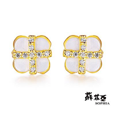 蘇菲亞SOPHIA - GoldShine系列冰雪黃金耳環