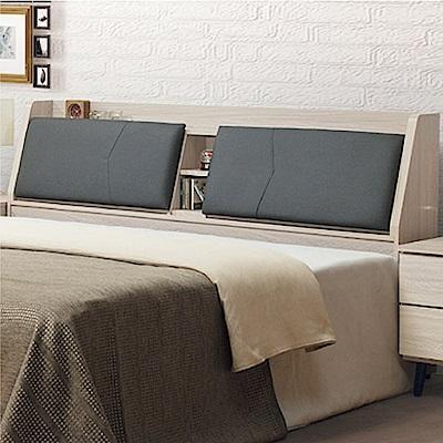 綠活居 海芙5尺貓抓皮革雙人床頭箱(二色可選+不含床底)-155x28x96cm免組