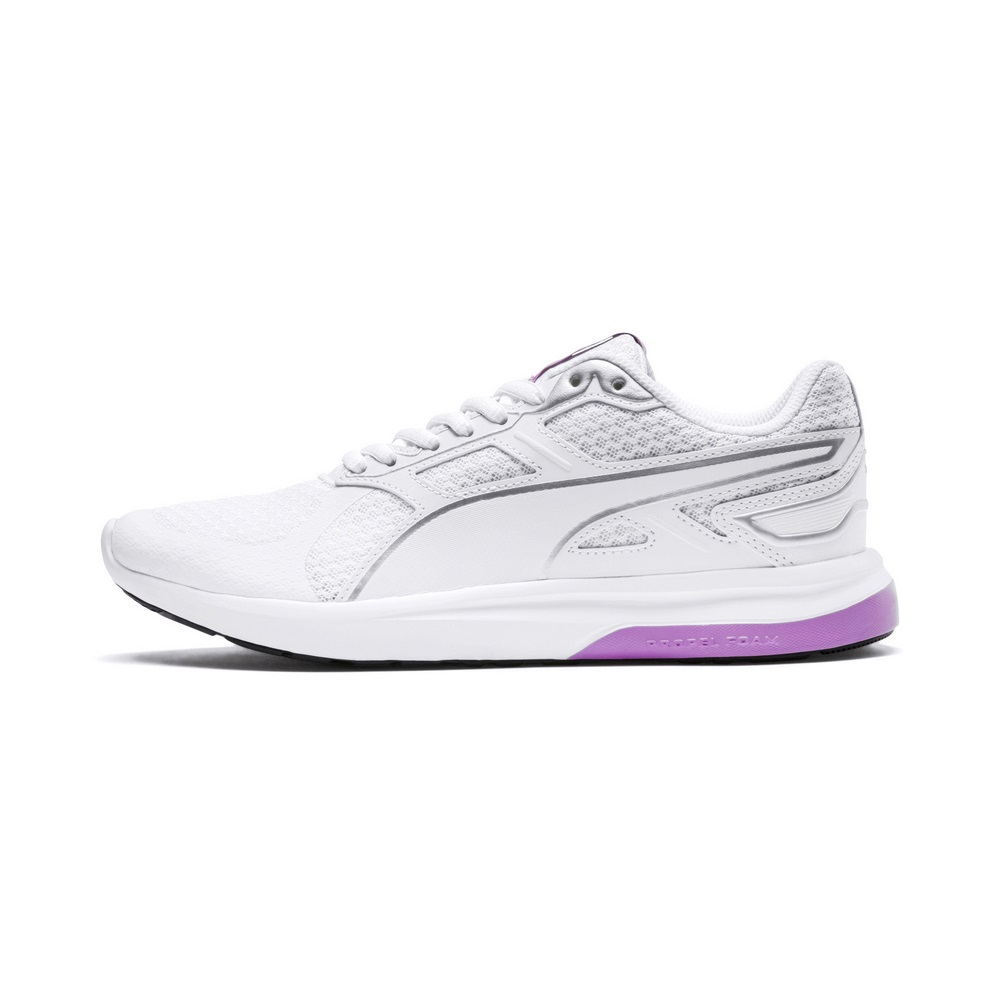 PUMA-EscaperTech男女復古慢跑運動鞋-白色