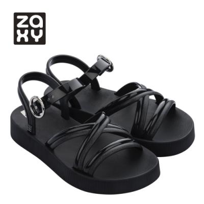 Zaxy LOOP系列造型涼鞋-黑