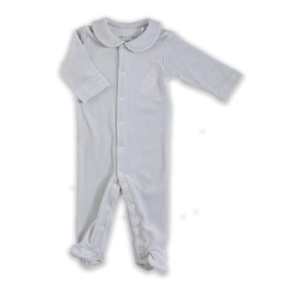 【Deux Filles有機棉】棉絨包腳連身衣-灰色