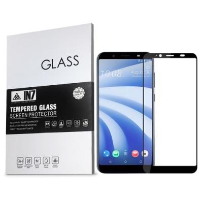 IN7 HTC U12 life (6吋) 高清 高透光2.5D滿版9H鋼化玻璃保護貼 疏油疏水 鋼化膜-黑色