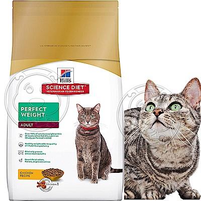 年終超殺Hills希爾思-完美體重成貓1-6歲雞肉配方-15磅6.8kg