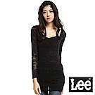 Lee 修身V領長版毛衣