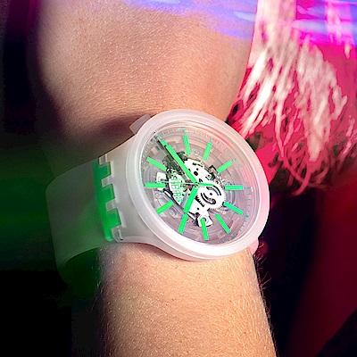 Swatch BIG BOLD系列手錶 GREENINJELLY 清新綠-47mm