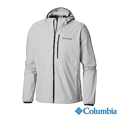 Columbia 哥倫比亞 男款-防潑水彈性風衣灰色 UKE00710