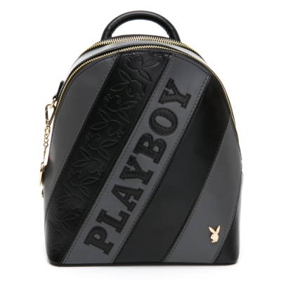 PLAYBOY-  後背包 魅力拼接系列 -黑色